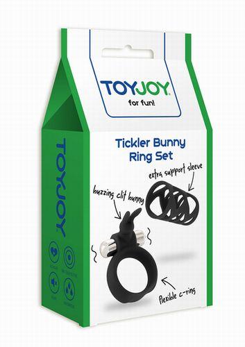 Насадка TICKLER BUNNY RING SET BLACK 10252TJ