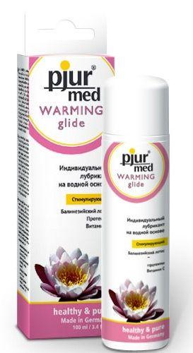 Стимулирующий лубрикант с экстрактом лотоса pjur MED Warming glide - 100 мл.