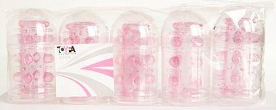 Набор из 5 розовых насадок с шипами и шишечками