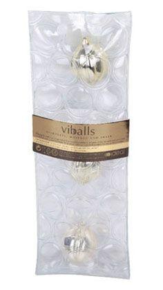 Золотые вагинальные шарики ViBalls - 3,7 см.