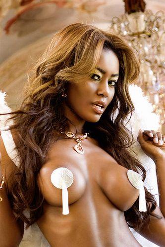 Накладки на грудь с кисточками Angel