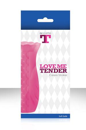 Розовый текстурированный мастурбатор LOVE ME TENDE