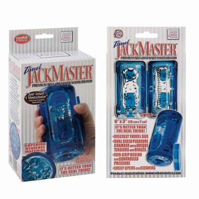 Гелевый голубой Супер-мастурбатор Travel Jackmaste
