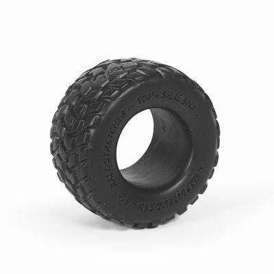 Чёрное силиконовое колечко-колесо для усиления эре
