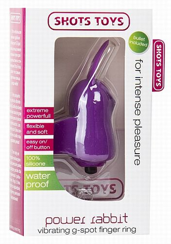 Фиолетовый вибростимулятор на палец Power Rabbit