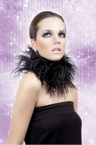 Черные ресницы-перья