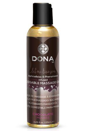 Массажное масло DONA Chocolate Mousse с ароматом ш