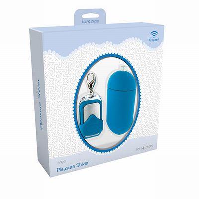 Голубое виброяйцо с дистанционным управлением VIBRATING EGG PLEASURE SHIVER LARGE