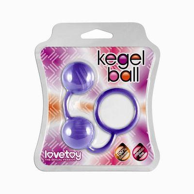 Фиолетовые вагинальные шарики с кольцом