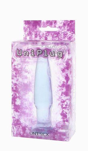 Голубая анальная пробка UNISEX UNI PLUG - 11 см.